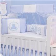 Quarto para Bebê sem Cama Babá Urso Real Azul