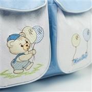 Bolsa Maternidade Ursinho Balão Azul