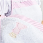 Toalha de Banho Avental Teddy Rosa