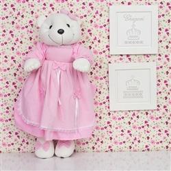 Ursa Porta Fraldas Rosa