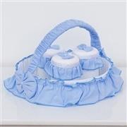 Kit Acessórios Branco e Azul