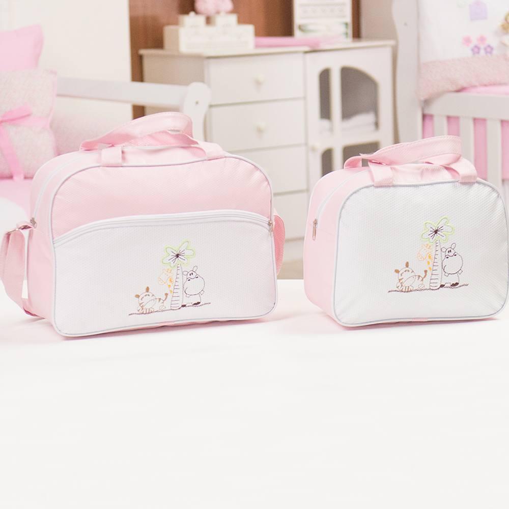 Conjunto de Bolsas Maternidade Safari Rosa