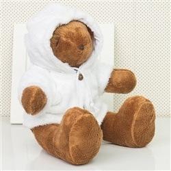 Urso M Com Capuz Branco