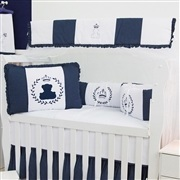 Quarto para Bebê Urso Real Marinho Poá