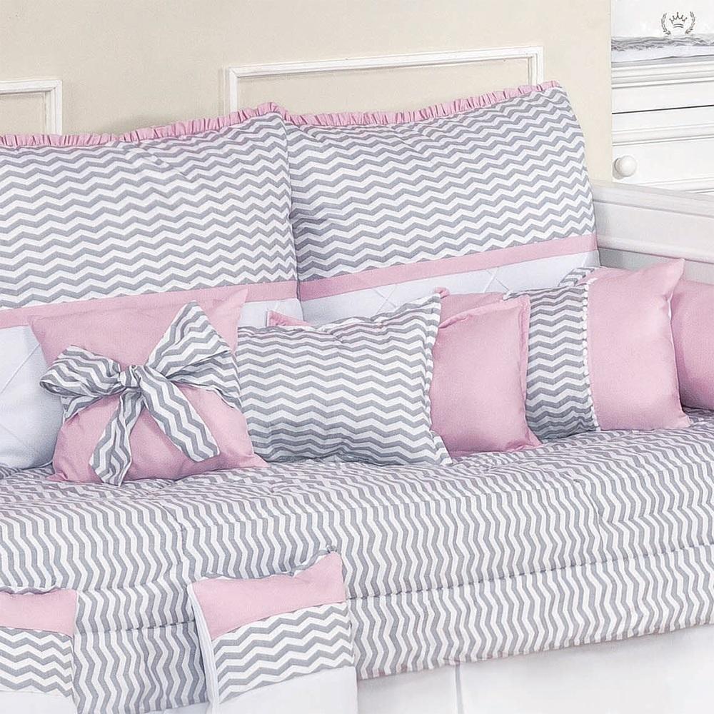 Almofadas Decorativas Baby Chevron Rosa