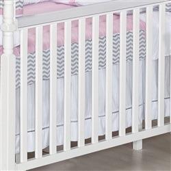 Saia para Berço Baby Chevron Rosa