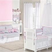 Quarto para Bebê sem Cama Babá Baby Chevron Rosa