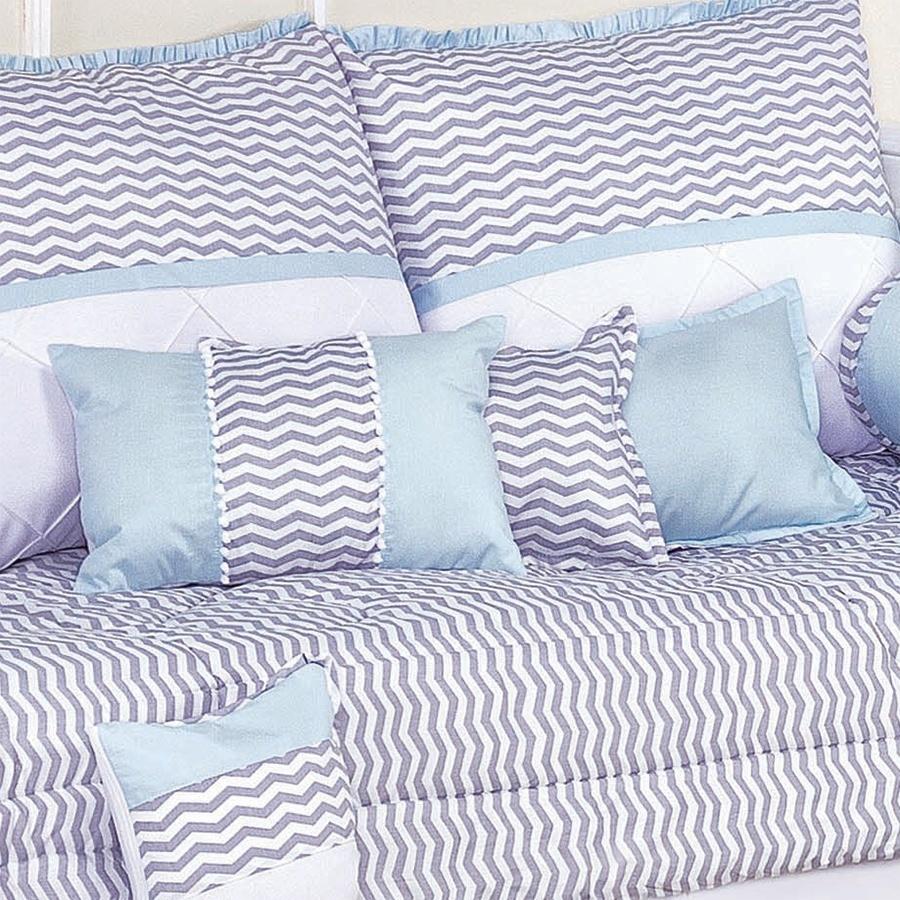 Almofadas Decorativas Baby Chevron Azul