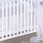 Saia para Berço Baby Chevron Azul
