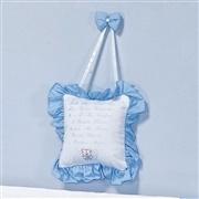 Enfeite de Porta Oração do Santo Anjo Azul Bebê