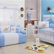 Quarto para Bebê Urso Amigo Azul