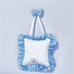 Enfeite de Porta Oração do Santo Anjo Amiguxos Azul