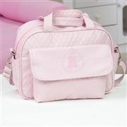 Conjunto de Bolsas Maternidade Urso Imperial Rosa