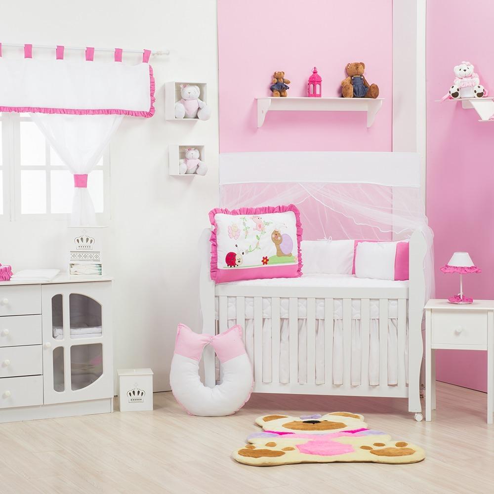 Quarto para Bebê sem Cama Babá Caracol Pink