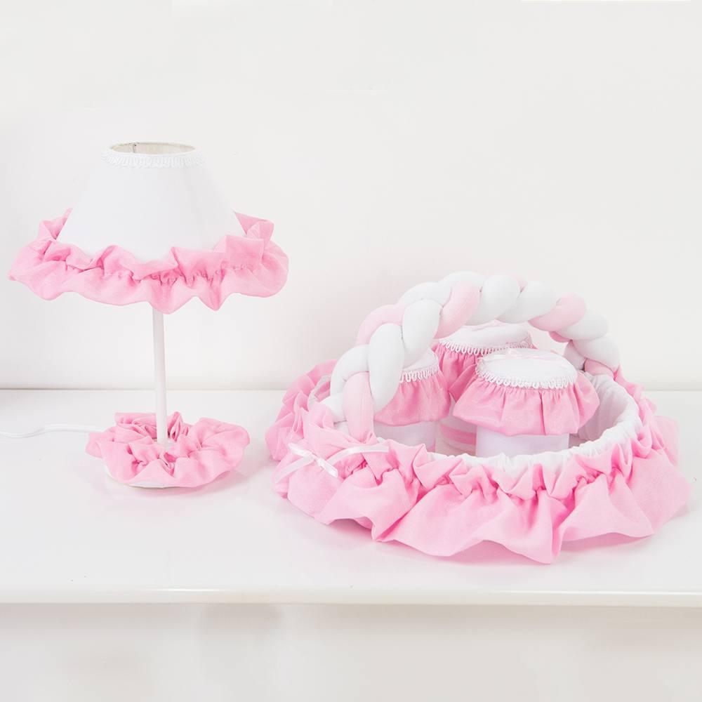 Kit Acessórios Caracol Rosa
