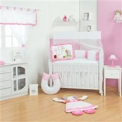 Quarto para Bebê sem Cama Babá Caracol Rosa