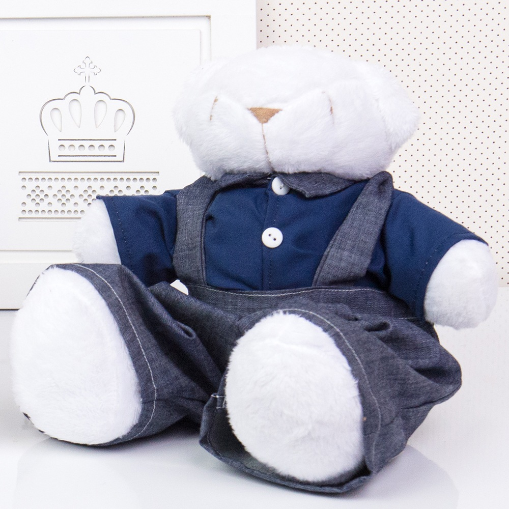 Urso Jardineiro Branco M