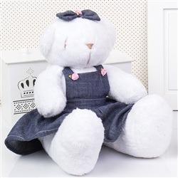 Ursa Jardineira Branca Lacinho M