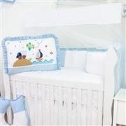 Kit Berço Transportes Azul Bebê