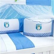 Kit Berço Corujinha Azul