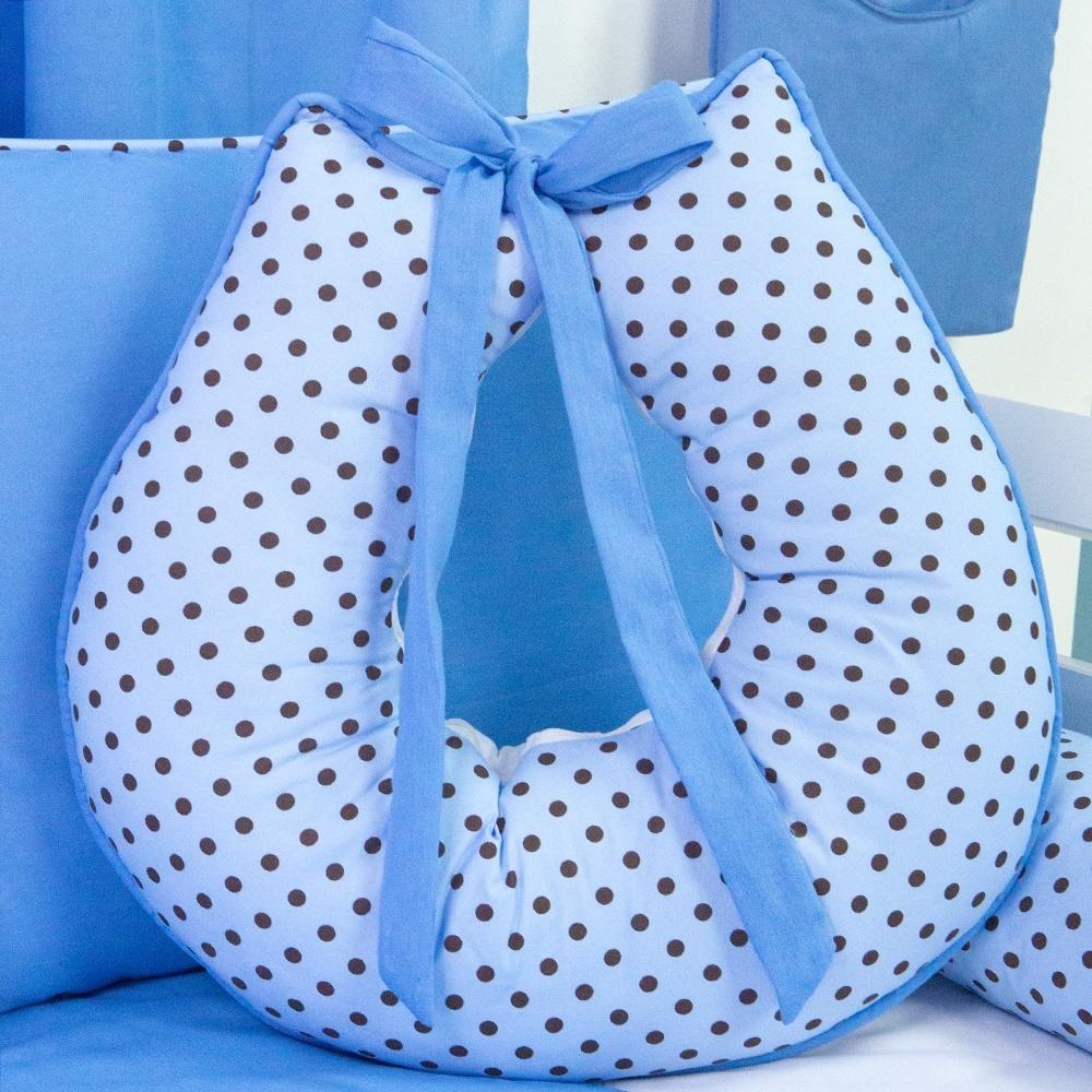 Almofada para Amamentação Corujinha Azul