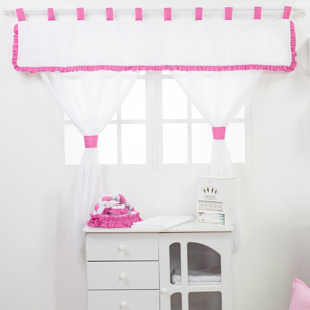 Cortina Ursa Flor Pink