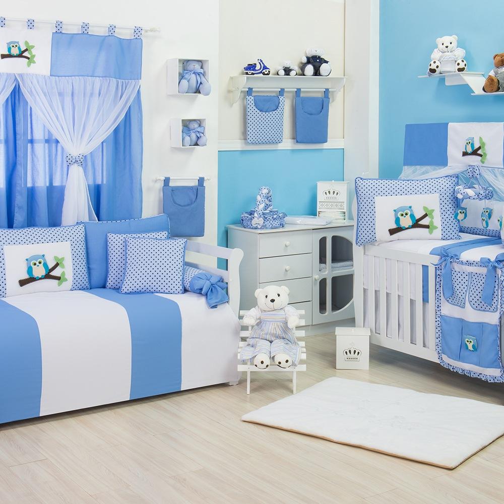 Quarto para Bebê Corujinha Azul