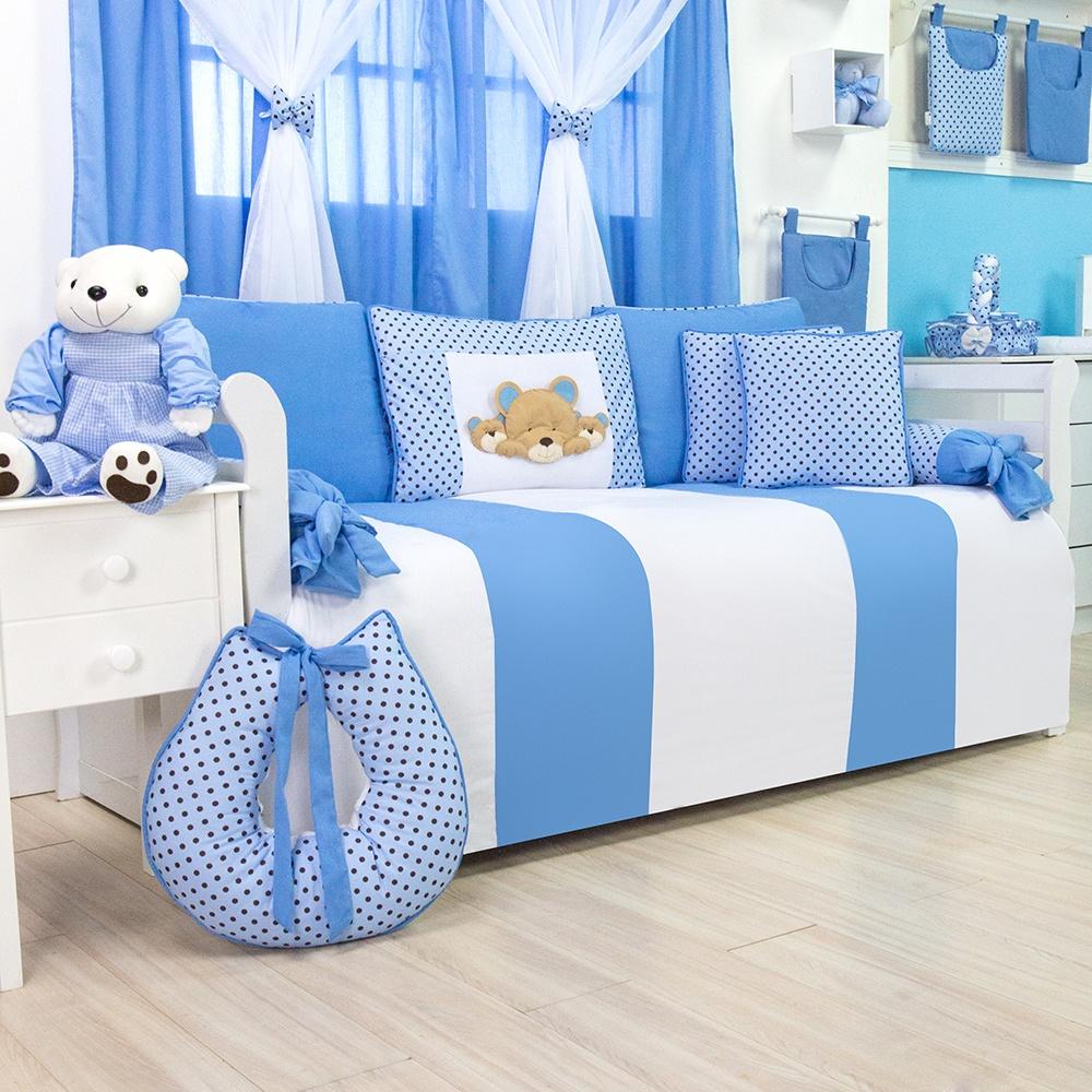 Kit Cama Babá Família Urso Azul
