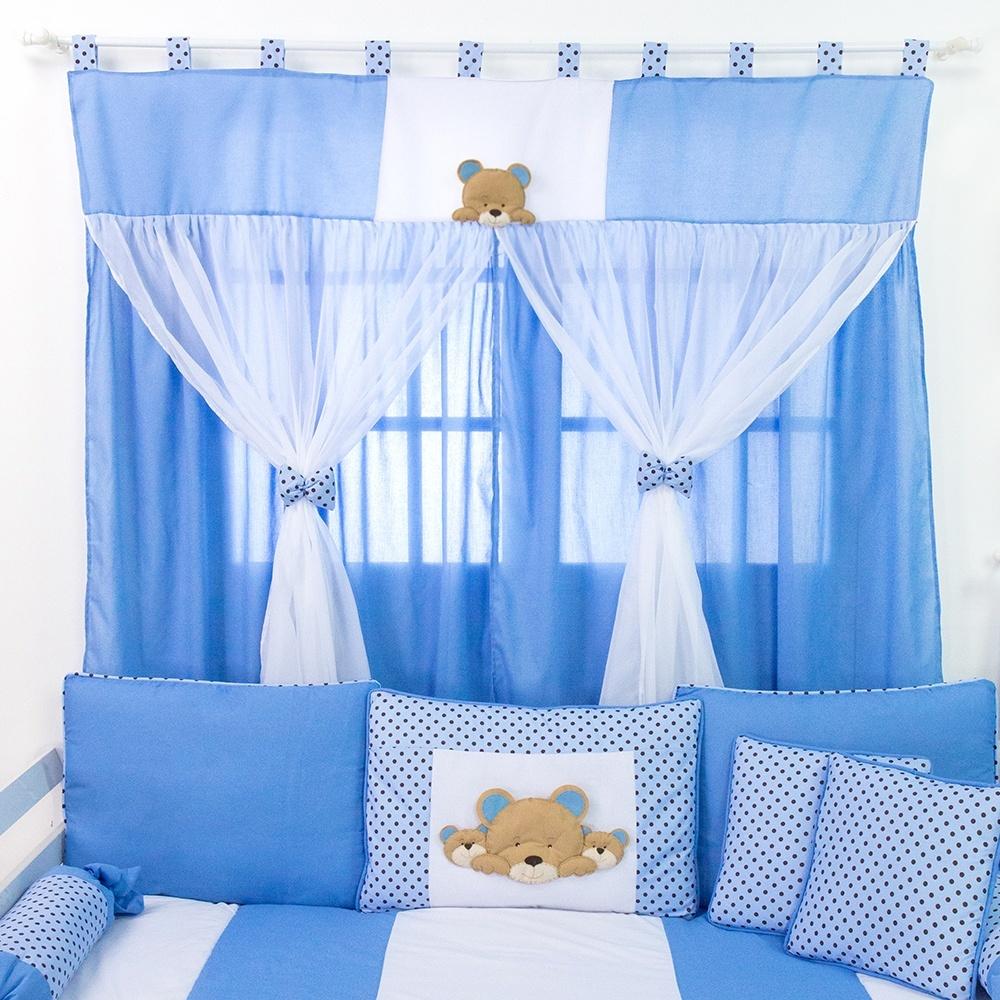 Cortina Família Urso Azul