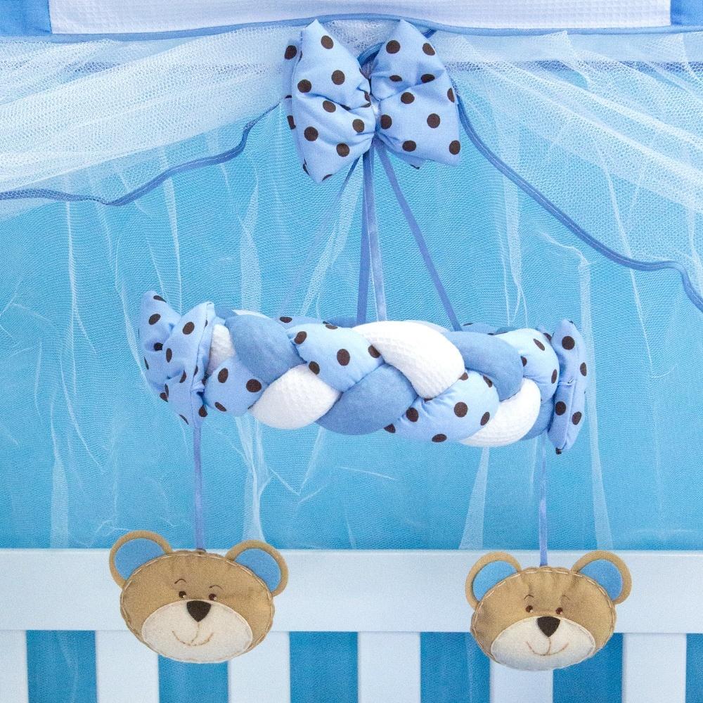 Móbile Família Urso Azul