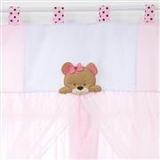 Cortina Família Urso Rosa