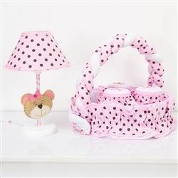 Kit Acessórios Família Urso Rosa