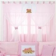 Quarto para Bebê sem Cama Babá Família Urso Rosa