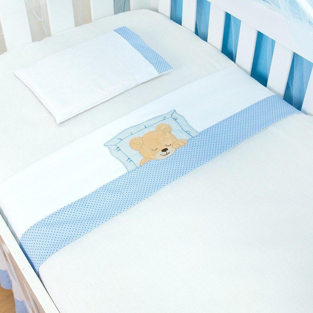 Jogo de Lençol de Berço Ursinho Dorminhoco