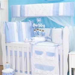Kit Berço Marina Azul Bebê