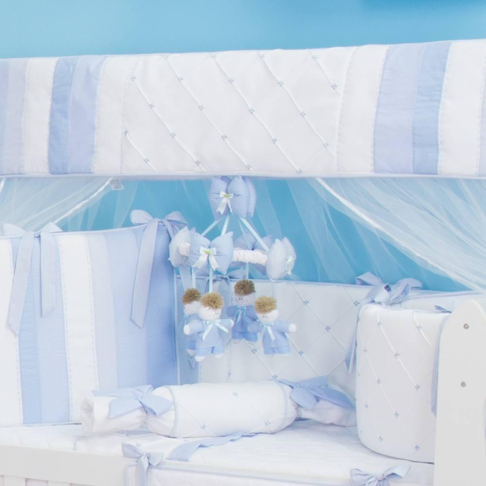 Mosquiteiro Marina Azul Bebê