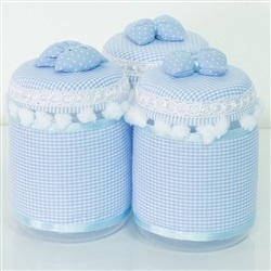 Jogo de Potes Marina Azul Bebê