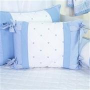 Almofada Jardineira Marina Azul Bebê