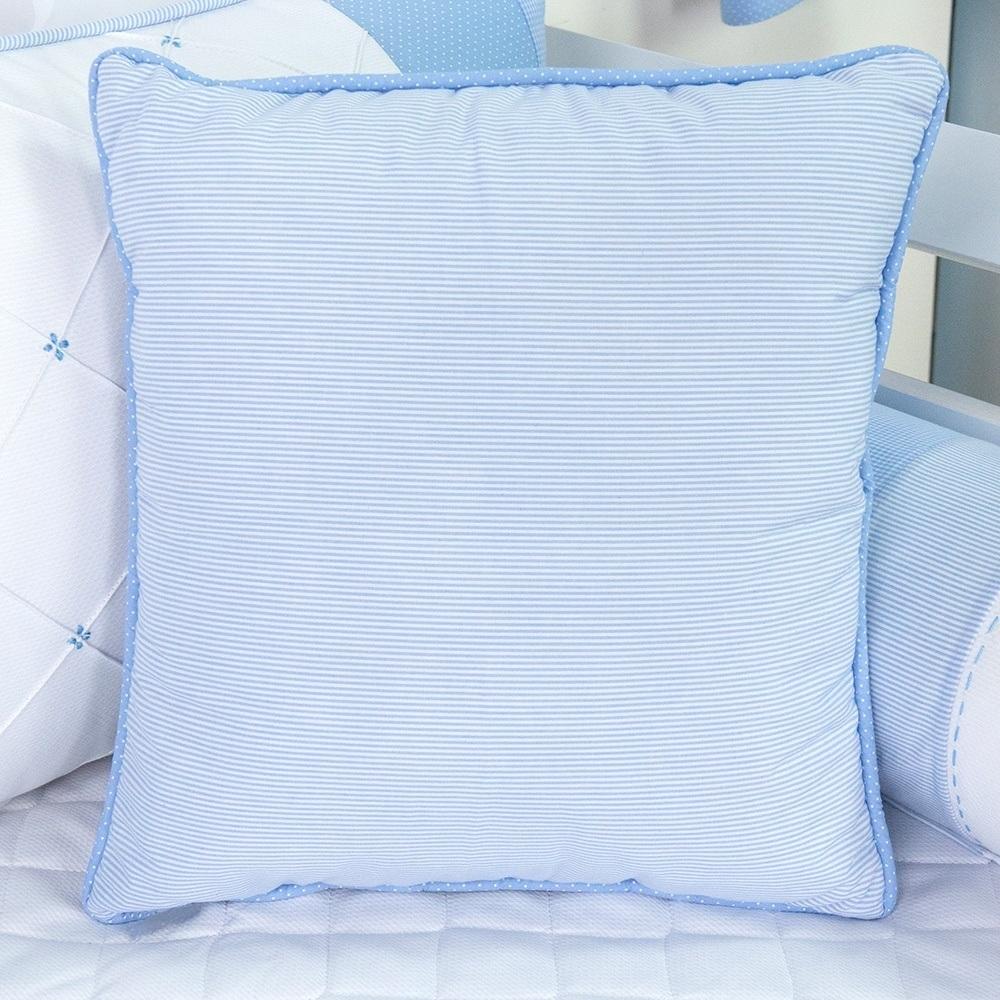Almofada Decorativa Listrada Marina Azul Bebê