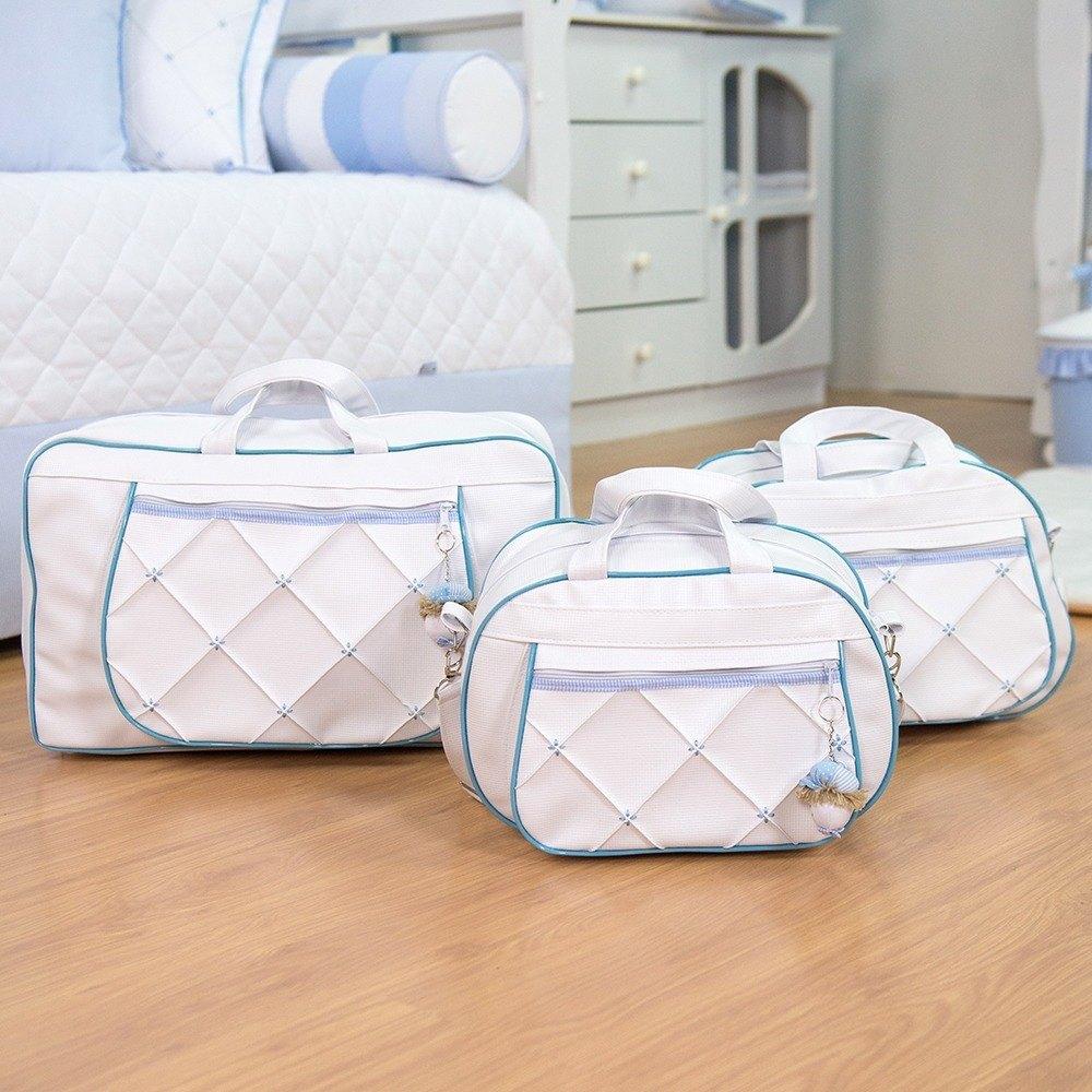 Conjunto de Bolsas Maternidade Marina Azul Bebê