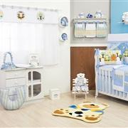 Quarto para Bebê sem Cama Babá Floresta Azul