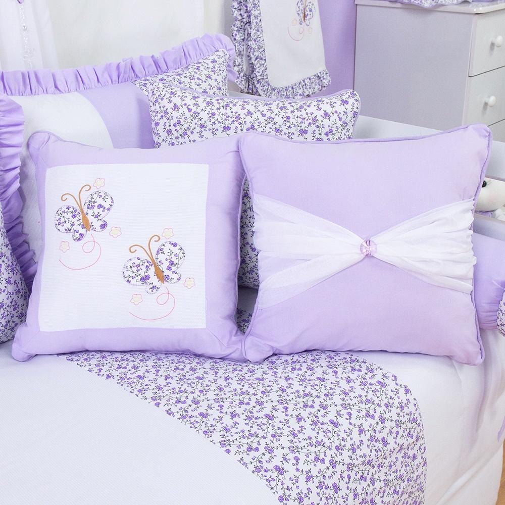 Almofadas Decorativas Borboleta Lilás