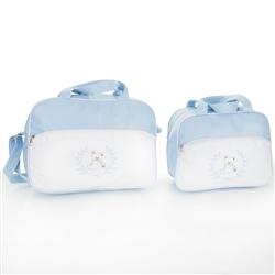 Conjunto de Bolsas Maternidade Ursinho Azul