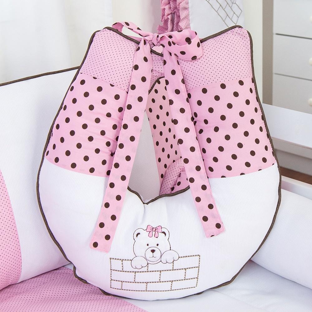 Almofada para Amamentação Família Urso Rosa