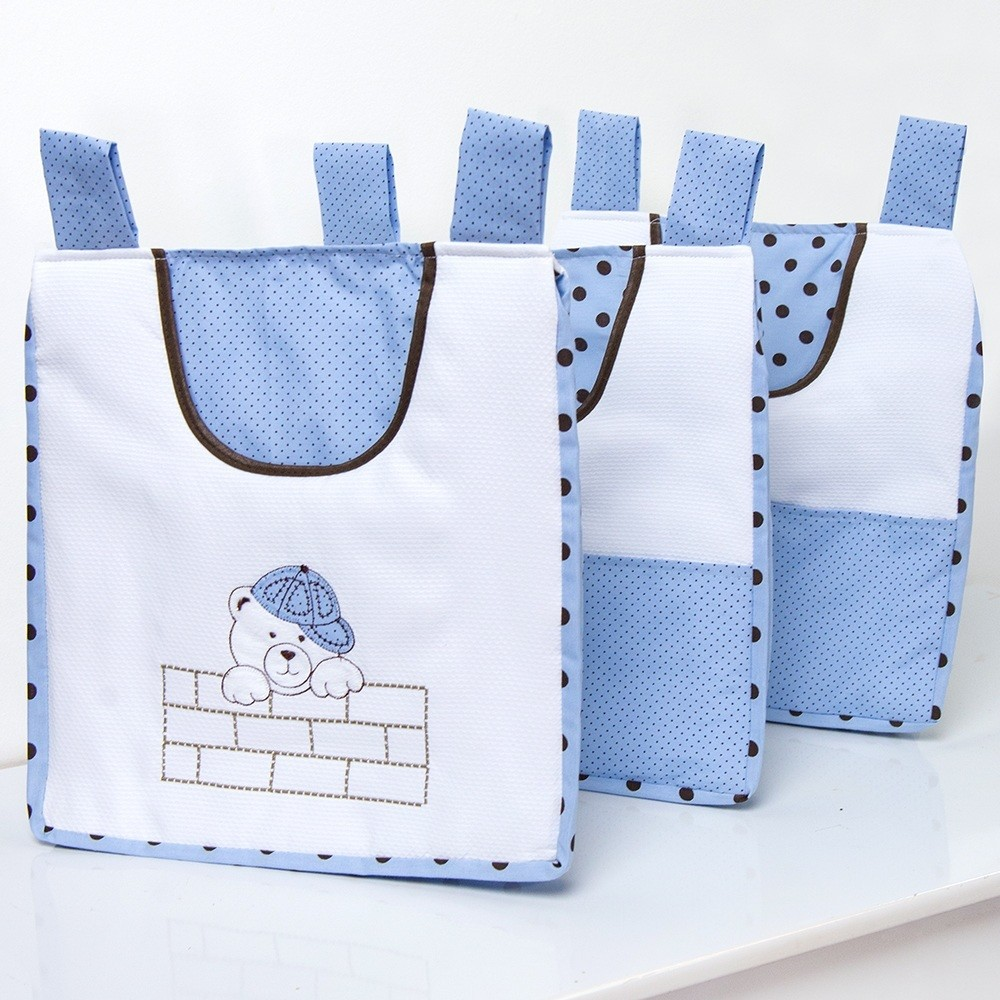 Porta Fraldas Varão Família Urso Azul
