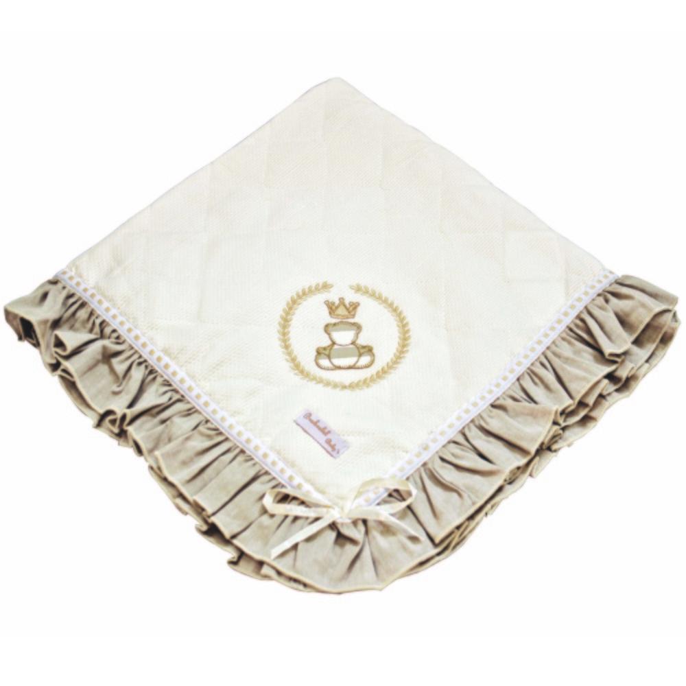 Manta de Piquet Matelada Royal Bege
