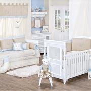 Quarto para Bebê sem Cama Babá Dupla Face Royal Azul
