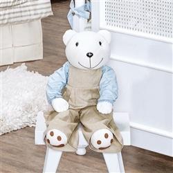 Urso Porta Fraldas Royal Azul