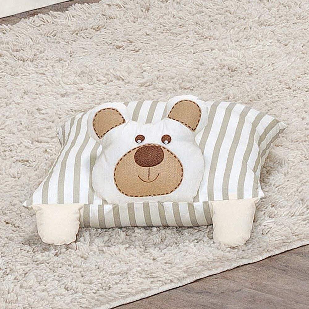Travesseiro Decorativo Urso Royal Bege