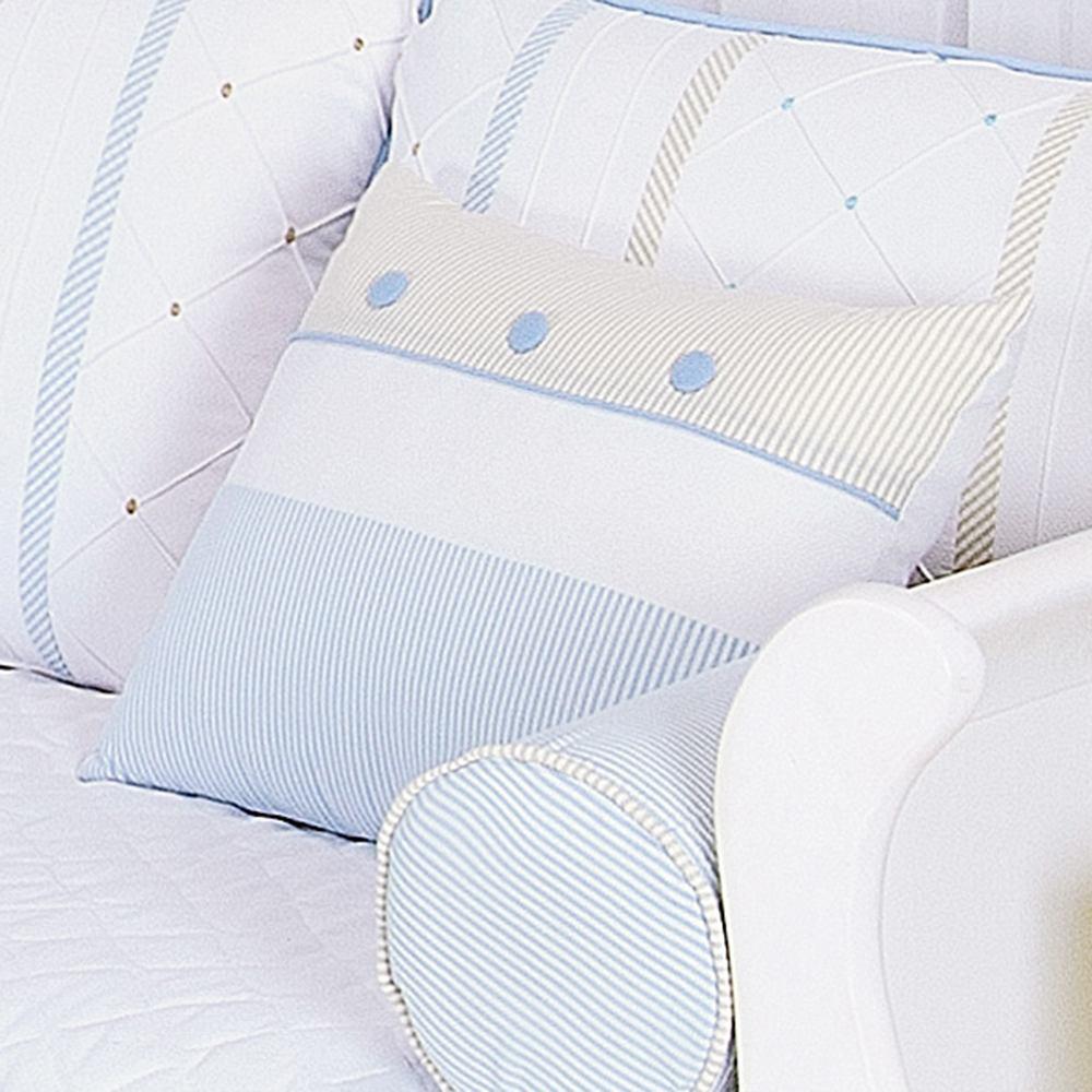 Almofada Decorativa Botões Guto Azul Bebê
